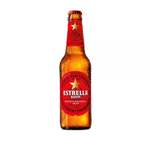 Comprar Cerveza Estrella Damm de botella de 33 cl