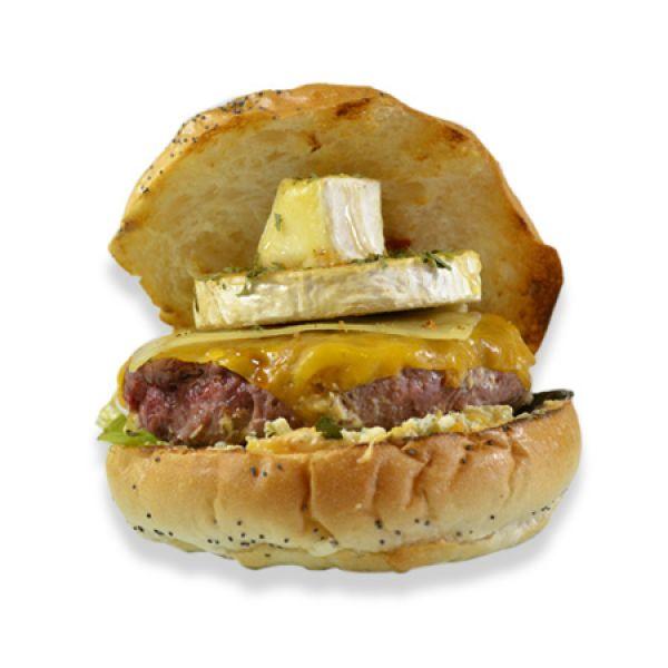 Comprar Hamburguesa 5 quesos, mediana 125 g.
